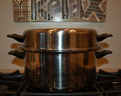 Vintage Queens Choice Vollrath 5 Qt Sauce Pan Dutch Oven 304-S Triple Thick