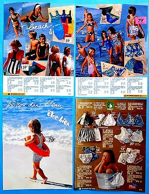 Boys Girls Underwear Pajamas Clothes Vtg Catalog Clippings 1995 Ad print 31 pgs
