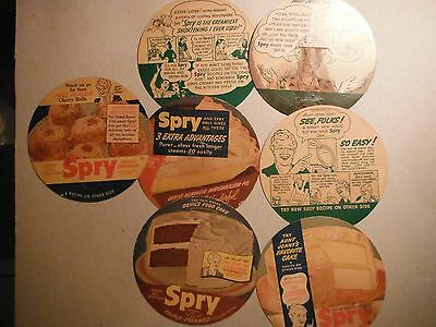 Seven Collectible Spry Shortening Lid Cover Recipes