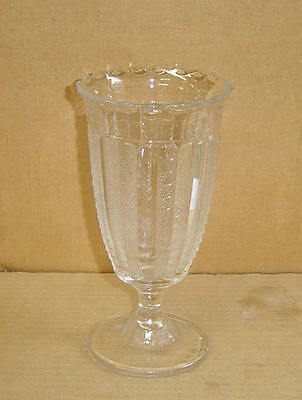 Eapg Crystal Fishscale Footed Celery Vase Bryce Bros Glass 1888