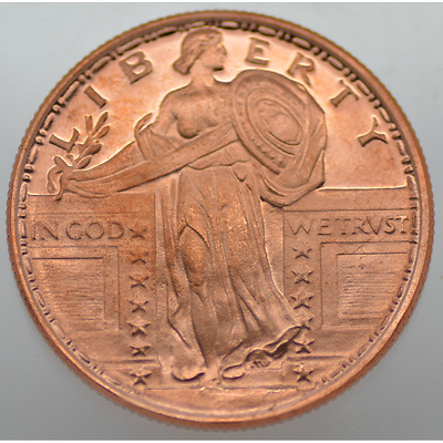1/4 Oz Avdp .999 Fine Copper - Liberty