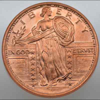 1/2 Oz Avdp .999 Fine Copper - Liberty