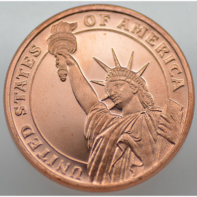 1/2 Oz Avdp .999 Fine Copper - Lady Liberty