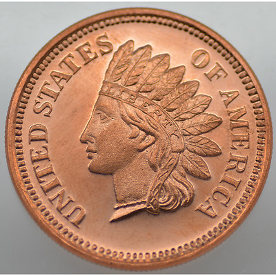 1/2 Oz Avdp .999 Fine Copper - Indian Head