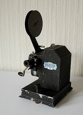 Vintage 1930'S 'Bingoscope' Projector With 2X Pathescope Monthly Editions