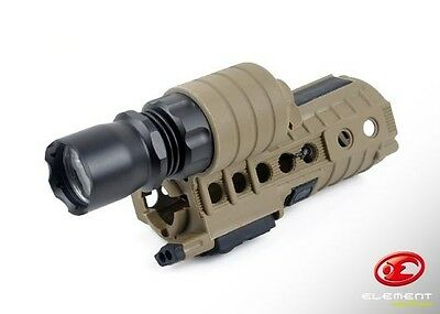Element AEG Handguard With Built In 190Lm CREE Weapon Light Tan