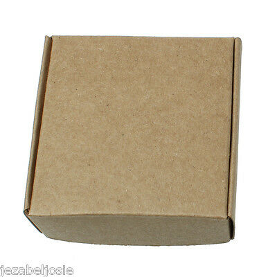 10/20  PLAIN Kraft Card Favour/Gift Boxes  No Glue required Flatpack