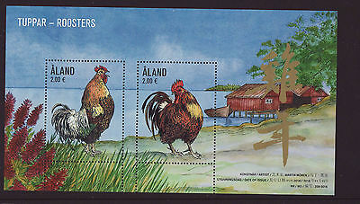Aland 2016 MNH - Year of the Rooster - miniature sheet