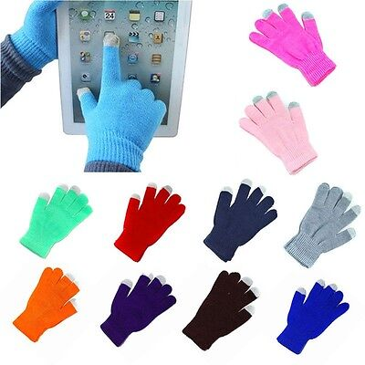 Women Men Texting Capacitive Smartphone Touch Screen Gloves Warm Winter Knit