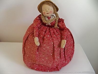 Adorable Vintage Tea Cozy Cloth Doll Made In The Usa