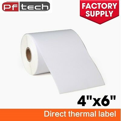 4 Roll 4x6 Direct Thermal Labels 250/Roll For Zebra 2844 Eltron ZP450 Free Ship