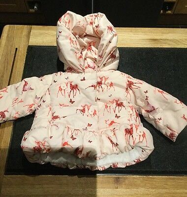 Cute Ted-Baker Girls Pink  Padded Jacket / Age 0-3 Months / Used Good Condition