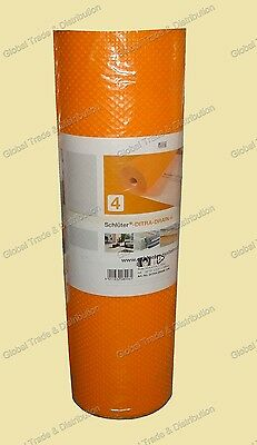 Schluter Systems DITRA DRAIN 4 Insulation Membrane 108 SqFt Roll ( 10m²) 10m x1m