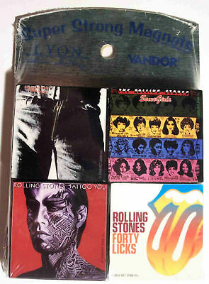 Set Of Four Rolling Stones Album Cover Tile Magnets NIB