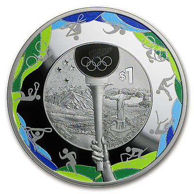 2016 New Zealand 1 oz Silver $1 Road to Rio Olympic Coin - SKU #98831