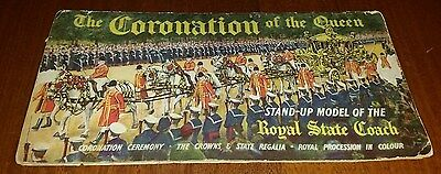 1952 Daily Express - Coronation Of Queen Pop Up Model Of Royal State Coach