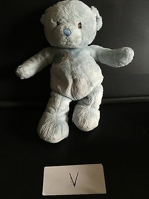 HARRODS  Cuddly Soft Plush Teddy Bear Kids Toy British Souvenir Baby Blue