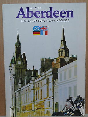 1990 City of Aberdeen Scotland travel brochure and map