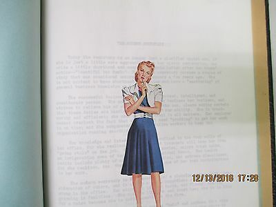 """A Private Secretary's """"My Service Book"""" - Typed Personal Notes Scrapbook - 1941"""