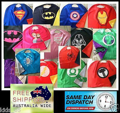 Adult 110 & 140 HIGH QUALITY Double Layer SuperHero Capes + Masks !!