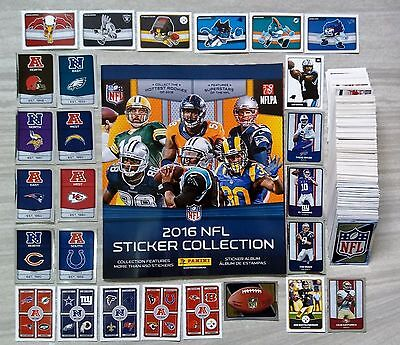 Panini 2016 NFL football COMPLETE SET 485 stickers + album