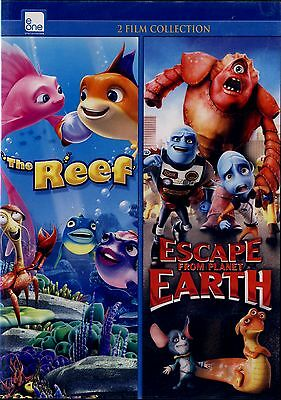 New Family  Dvd // The Reef + Escape From Planet Earth - Children Movies