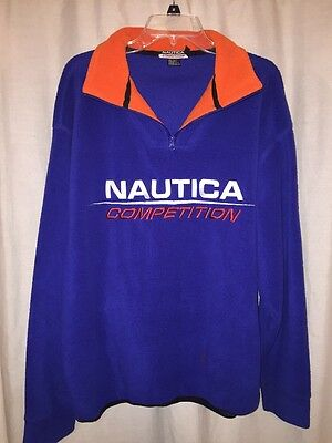 Nautica Competition Vintage Men's Fleece Spell Out Size L Large