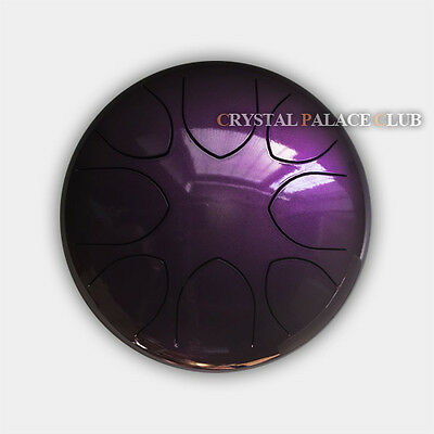 """9"""" Steel Tongue Drum/Wu You Drum (Bag included)-C Major Natural Scale Purple"""