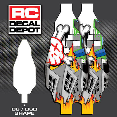 2 Chassis Skins AE B6/B6D Team Associated Burner Protector Decal Tape