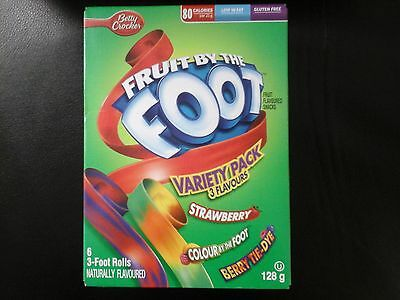 betty crocker fruit by the foot fruit flavored snacks variety pack 128g