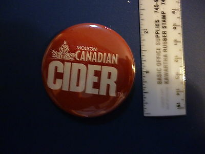 Molson Canadian Cider pin mint beer