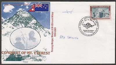 NEPAL CONQUEST OF Mt. EVEREST SCARCE SHERKA SIGNED EXPEDITION COVER