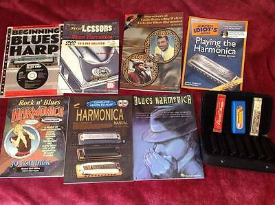 Harmonica instruction and tuition DVDs and Books - most never opened!