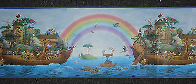 Wallpaper Border Nursery or childrens Noah's Ark & Animals Turtle, Birds Giraffe