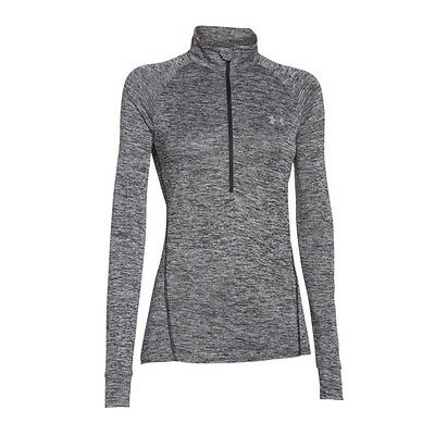 Under Armour Tech 1/2 Zip Shirt Damen Schwarz F001