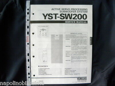 Yamaha   YST-SW200 Factory Original Service Manual New