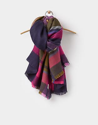 Joules 124073 Womens Berkley Scarf in Laurel Check in One Size