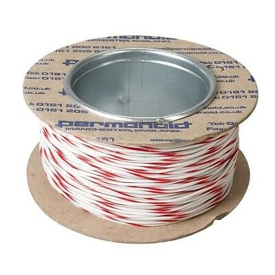 Rapid Equipment Wire 16/0.2mm White/Red 100m