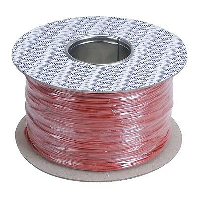 Rapid GW012214 500m Reel Red 7/0.2mm Wire