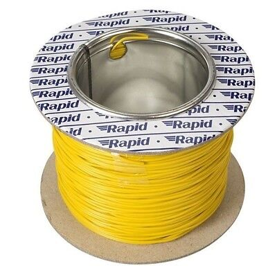 Rapid GW011550 10/0.1mm Equipment Wire Yellow 100m