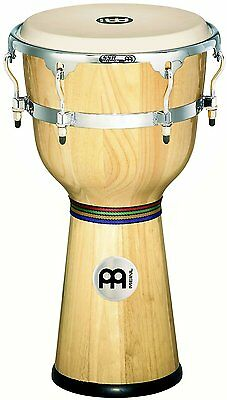 Meinl Percussion 12-Inch Floatune Series Wood Djembe Natural Finish - DJW3NT