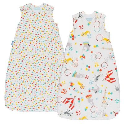 Grobag Baby Sleeping Bag TWIN Pack - ROLL UP 1.0/2.5 tog (0-6, 6-18,18-36 month)