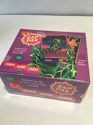 Zap Pax 1992 Factory Sealed Box Trading Card Set Rare Video Game Cards