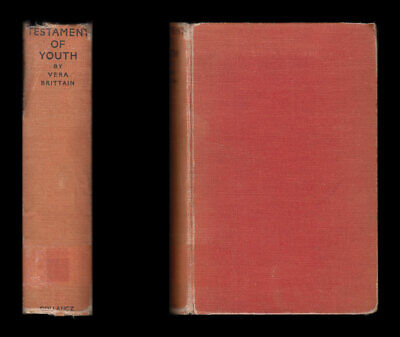 1933 1st Vera Brittain TESTAMENT OF YOUTH Autobiographical Study 1900-25 WWI VAD