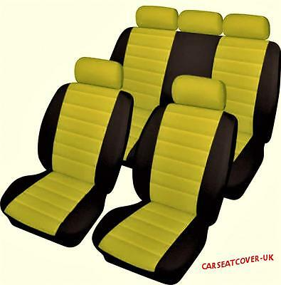 Mazda CX-5  - Luxury YELLOW/BLACK Leather Look Car Seat Covers - Full Set