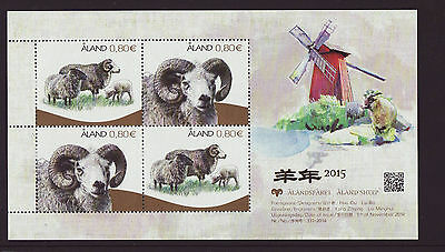 Aland 2015 MNH - Aland sheep´s bred - Windmill - m/sheet