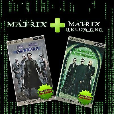 �� ●● THE MATRIX & THE MATRIX RELOADED ●● UMD Movies for Sony PSP  **NEW**