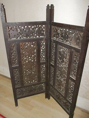 Ornamental wooden floral carved fire guard/screen..Beautiful