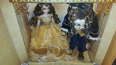 Disney limited dolls set of belle beauty and the beast platinum LE 500 in hands