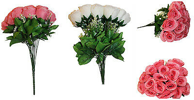 New 18 Heads Fake Silk Flowers Bouquet Artificial Rose Wedding Floral DecorPlant